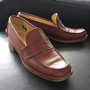 Women's FRYE Shoes Loafers Leather Size 8 Narrow